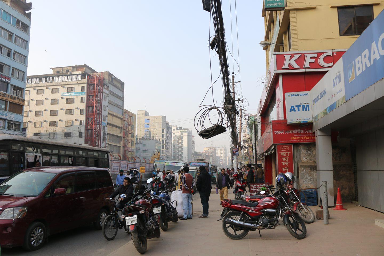 A street scene in Mirpur 12