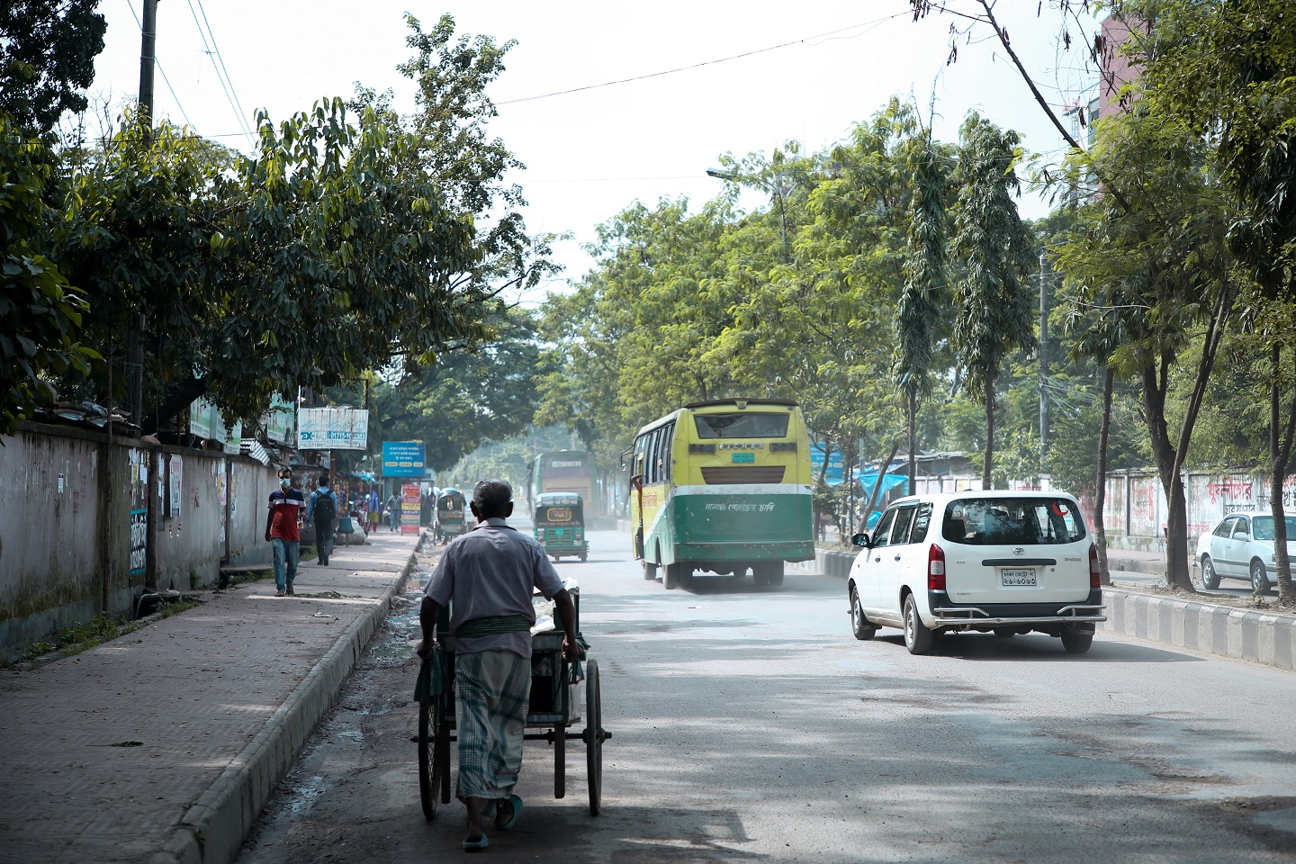 Busy road with Transport - agargaon